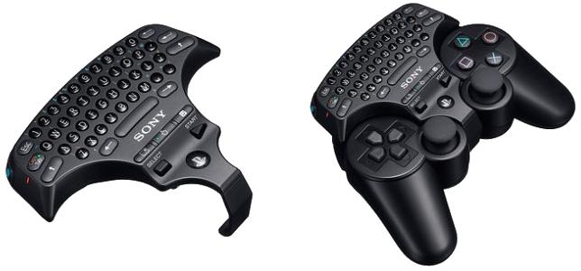 bezdrátová miniklávesnice na PS3 ovladač dualshock 3